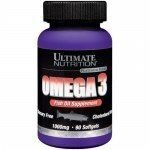 Ultimate Nutrition Omega 3(90капс)   Цена 570 р